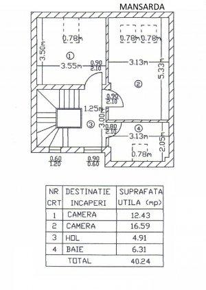 Pipera - AZUR - vila P+1+M - 5 camere 140 mp