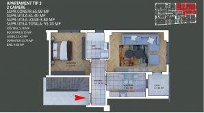 Apartament 2 Camere-Premium-Otopeni-Ultracentral