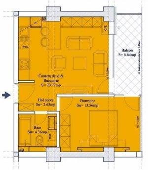 Apartament 2 camere - 47mp - Sebastian - Prosper - 13 Septembrie