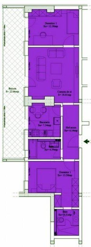 Apartament 3 camere - 90mp - Sebastian - 13 Septembrie -Prosper
