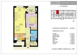 Apartament 2 camere 2021 - decomandat - complex 2021