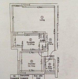 PIPERA - apartament 2 camere -GRADINA 120 mp- comision 0