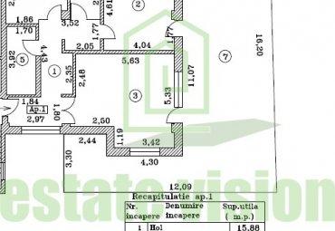 Apartament 3 camere, terasa si curte proprie bloc nou Dorobanti-Polona