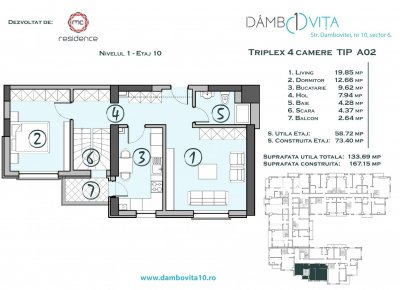 Apartament 4 Camere - DA02 Scara 1