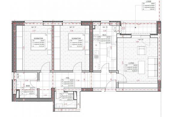 Apartament 3 Camere - C2.1.1A