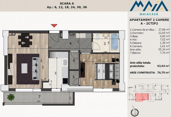 Apartament 2 Camere - A-2CTIP2