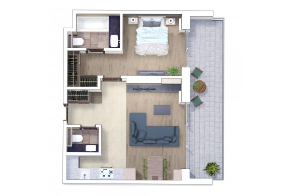 Apartament 2 Camere - 2A
