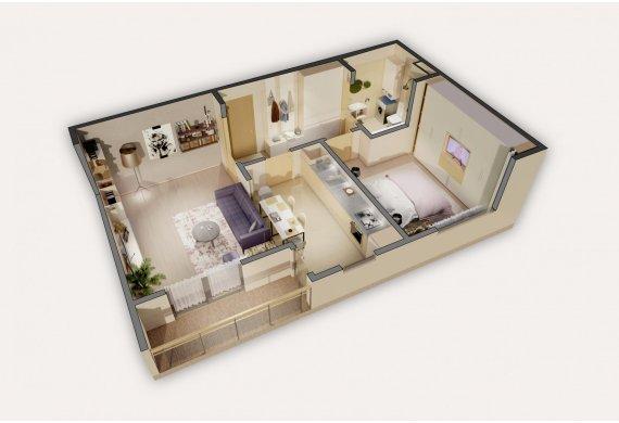 Apartament 2 Camere - 3.2B