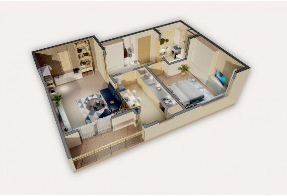 Apartament 2 Camere - 5.2A