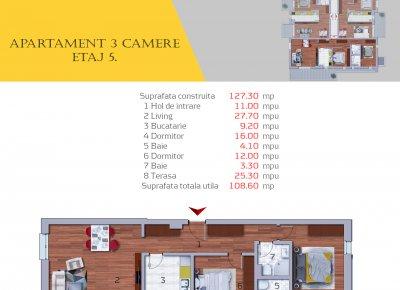 Apartament 3 Camere - 3B