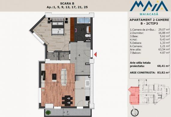 Apartament 2 Camere - B-2CTIP3