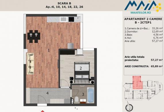 Apartament 2 Camere - B-2CTIP1