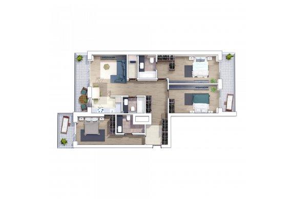 Apartament 4 Camere - 4B