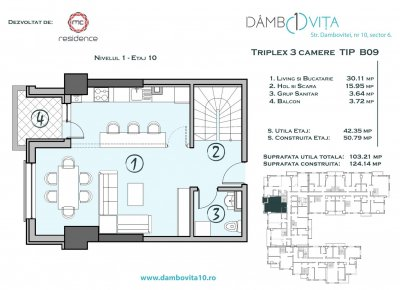 Apartament 3 Camere - DB09 Scara 2