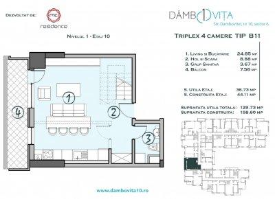 Apartament 4 Camere - DB11 Scara 2