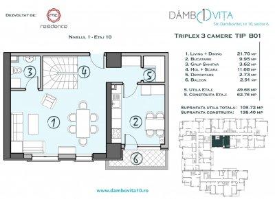 Apartament 3 Camere - DB01 Scara 2