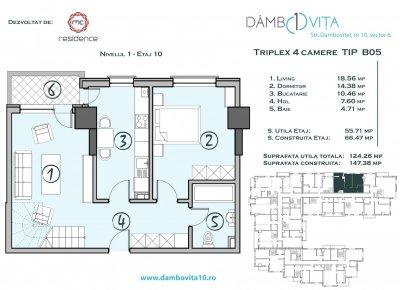Apartament 4 Camere - DB05 Scara 2
