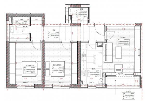 Apartament 3 Camere - C2.1.2B