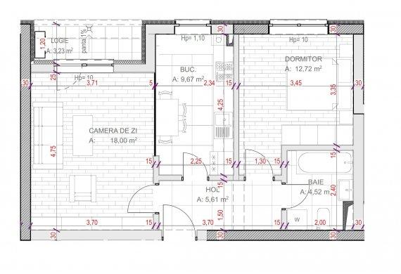 Apartament Studio - C2.3.1