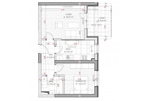 Apartament Studio - C2.3.2