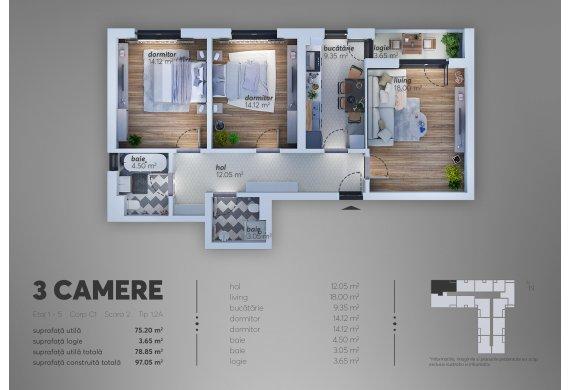 Apartament Studio - 1
