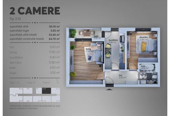 Apartament Studio - 3