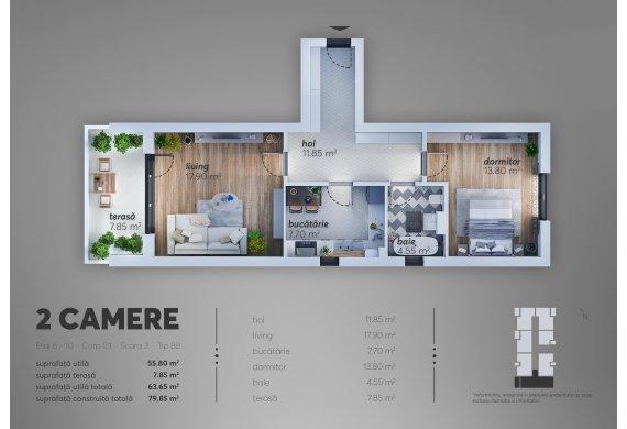 Apartament 2 Camere - C1.8B