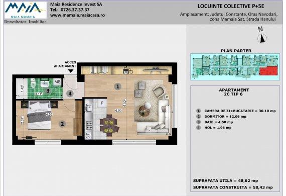 Apartament 2 Camere - 2C TIP 6