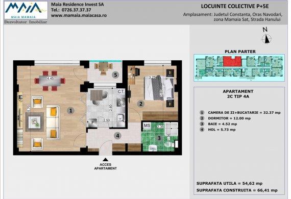 Apartament 2 Camere - 2C TIP 4A