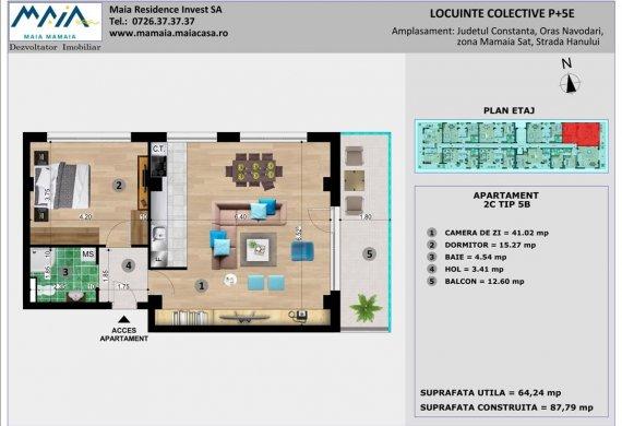 Apartament 2 Camere - 2C TIP 5B