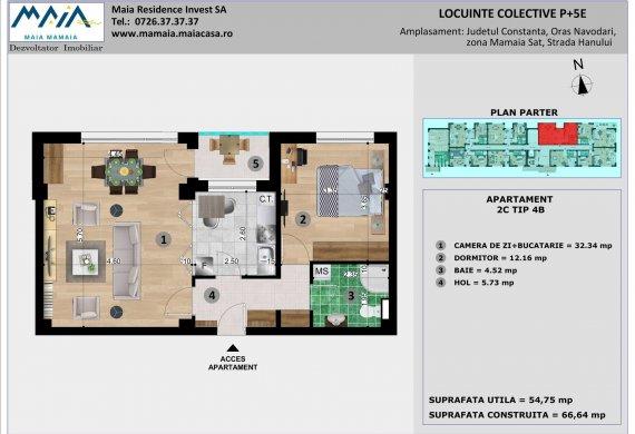 Apartament 2 Camere - 2C TIP 4B