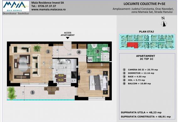 Apartament 2 Camere - 2C TIP 1C