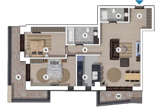 Apartament 3 Camere - 3C