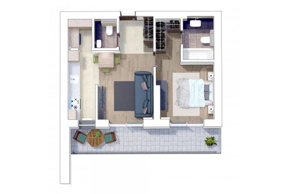 Apartament 2 Camere - 2E