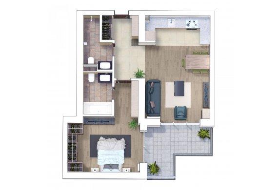 Apartament 2 Camere - 2H