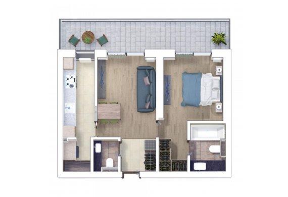 Apartament 2 Camere - 2I