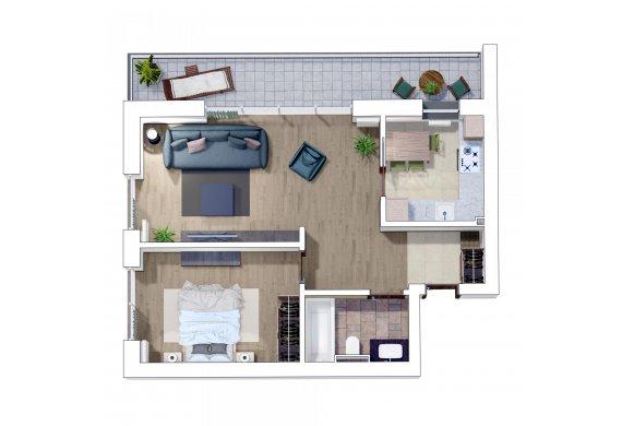 Apartament 2 Camere - 2J