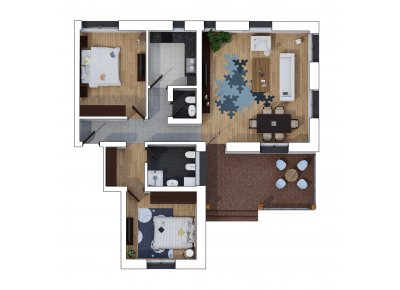 Apartament 3 Camere - Lounge Garden - Parter