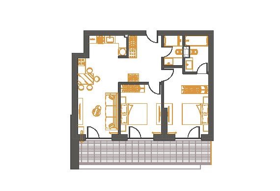 Apartament 3 Camere - 3C2