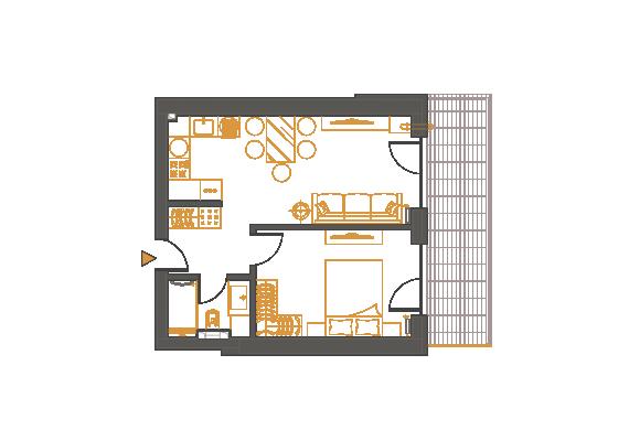 Apartament 2 Camere - 2C3