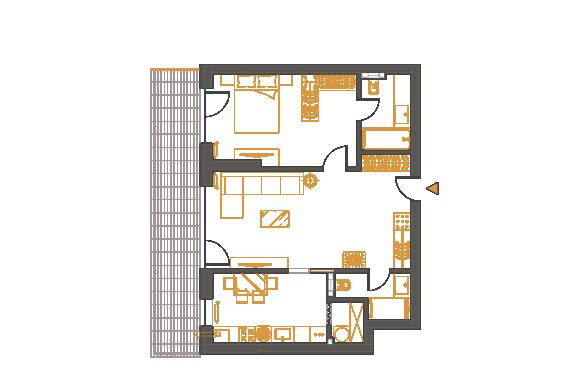 Apartament 2 Camere - 2D1