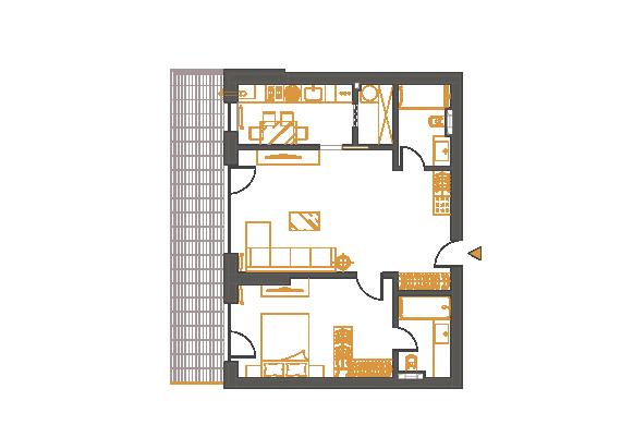 Apartament 2 Camere - 2D2