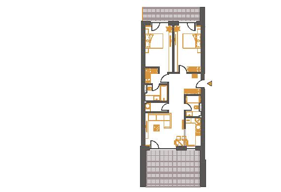 Apartament 3 Camere - 3D2