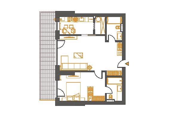 Apartament 2 Camere - 2D3