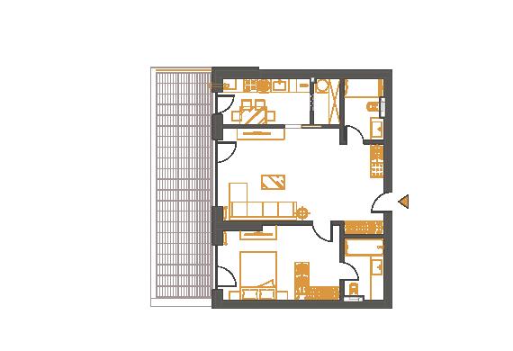 Apartament 2 Camere - 2D1P