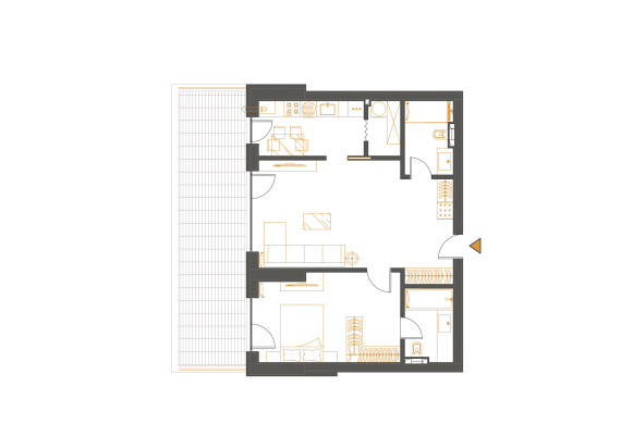 Apartament 2 Camere - 2D3P