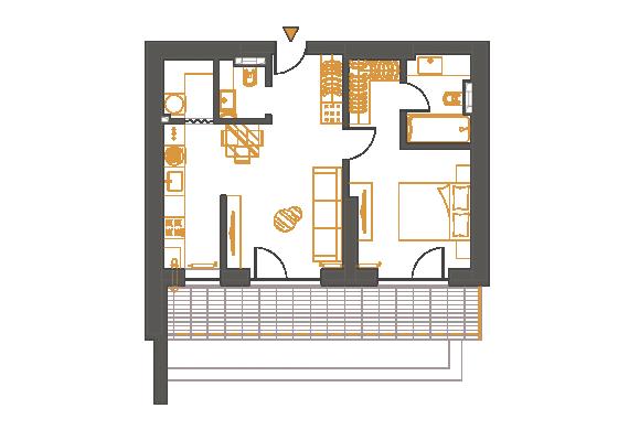 Apartament 2 Camere - 2E1