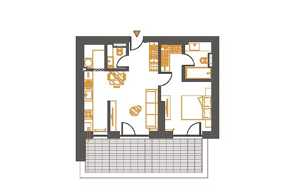 Apartament 2 Camere - 2E2