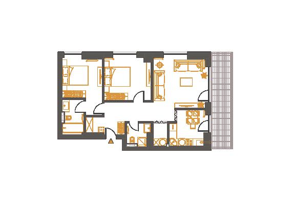 Apartament 3 Camere - 3F1