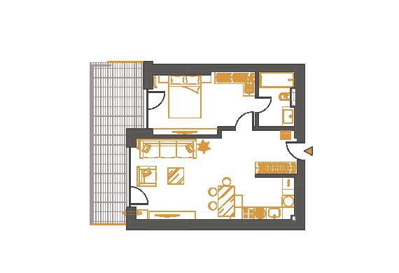 Apartament 2 Camere - 2F1